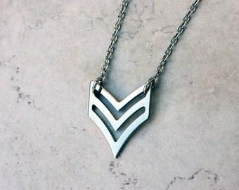 chevron necklace - modern jewelry - HARLEY necklace