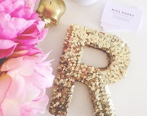 THE ORIGINAL Sequin Letter- Gold or Silver