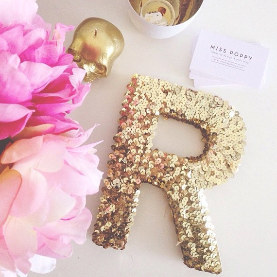 Pretty sequined letter