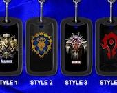 Custom Gamer Dog Tag - World Of Warcraft