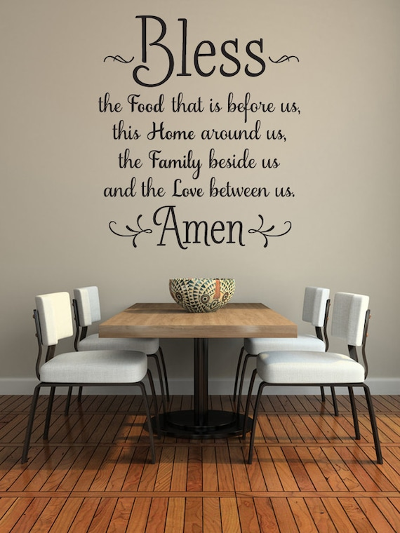 the food before us wall decal kitchen wall art dining room wall