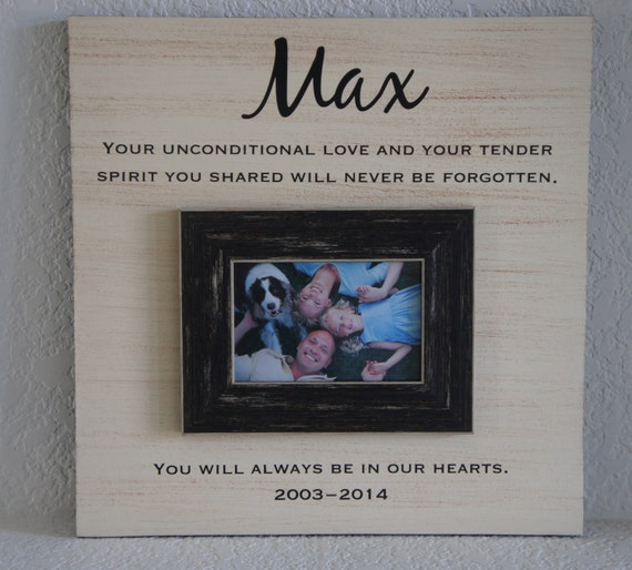 Personalized Pet Memorial with poem name and dates add photo