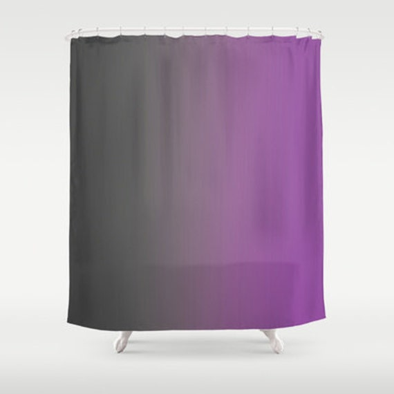gray to purple ombre shower curtain by shelleyscrochetole