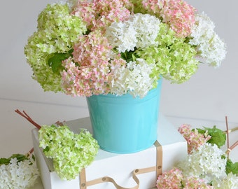 24pcs/lot Mini Artificial Hydrangea Stephanotis Home Decorations Fake Flowers Silk Hydrangea For Bridal Bouquet Table centerpieces