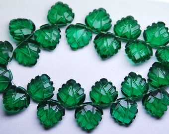 7 Inch Strand,Matched Pairs,Green Chrome Diopside Quartz Carving Faceted Heart Shape Briolettes,12mm