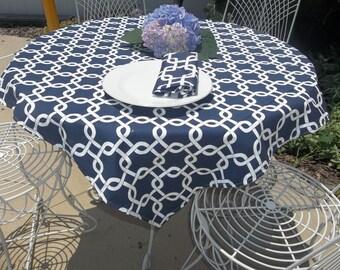 table cloth,54x54 navy gotcha overlay