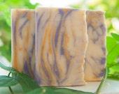 Lavender Lemongrass Handcrafted Pure Soap Bar, Vegan, Palm Oil Free