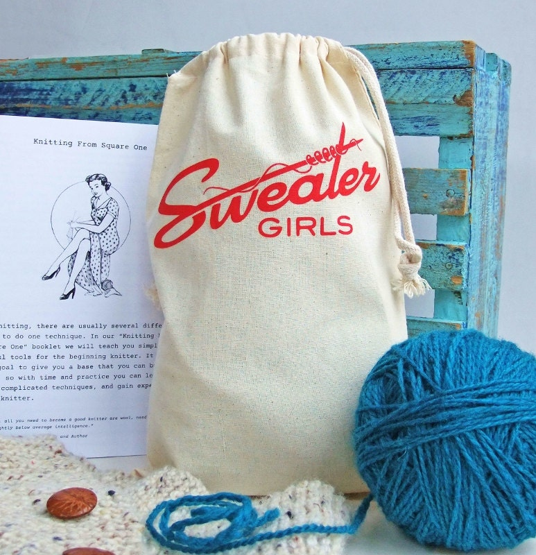DIY Beginner Knitting Kit-Learn to Knit by SweaterGirls on Etsy