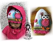 Crochet PATTERN, Hat with Jolly Owl, DIY Pattern 70