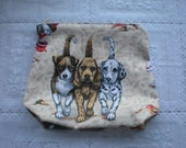 Dog lovers zippered pouch, cosmetic bag, make up bag, novelty bag, gift bag, pouch