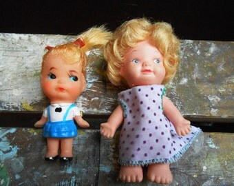 Two Small Dolls from the 1960's