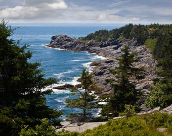 Landscape Photography - Coastal Ocean View, Monhegan Island, Maine -  8x12