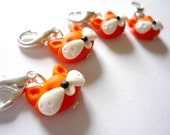 Fox stitch markers for crochet, row markers, set of 4 - UK seller