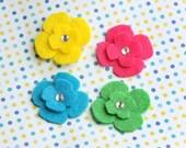 Mini Flower Hair Clips - Pick 4
