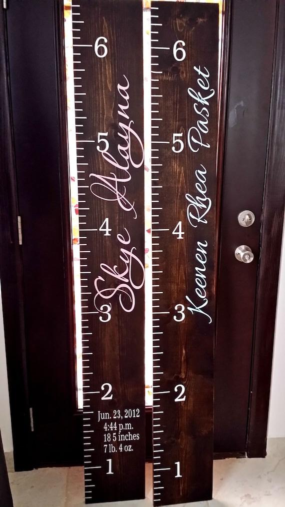 Wooden Height Chart Children Growth Chart Giant Ruler Wooden