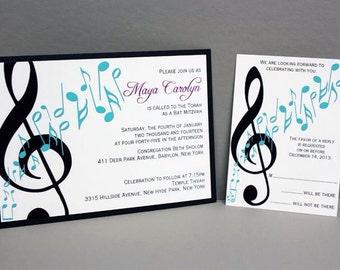 Music Invitation Etsy