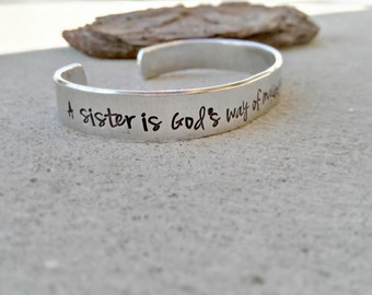 Sister Jewelry A Sister Is God S Way Of Making Sure We