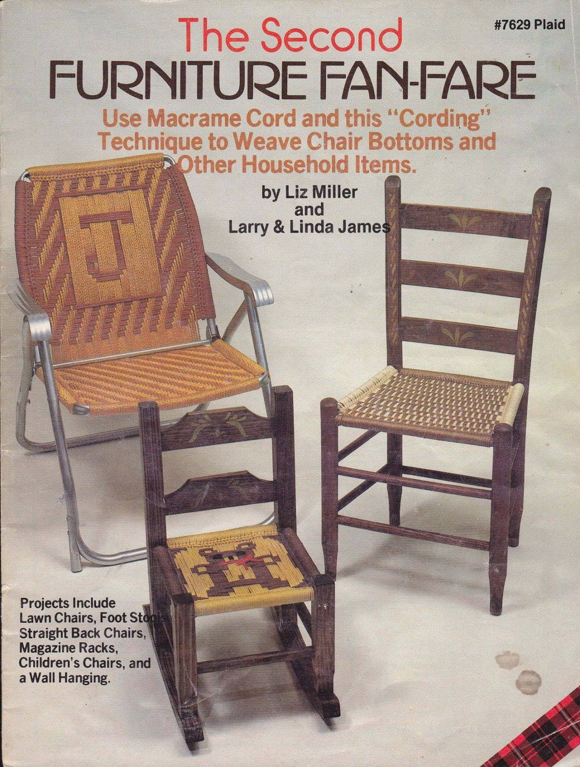 Pattern Macrame Cord Weaving For Chairs And Other Household