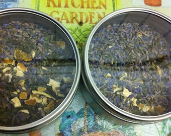 Lavender Sunshine Tea, Lavender Lemonbalm Lemongrass Tea, Organic Loose Leaf Herbal Tea, Herbal Tea, Calming, Stomach Soothing, Loose Tea