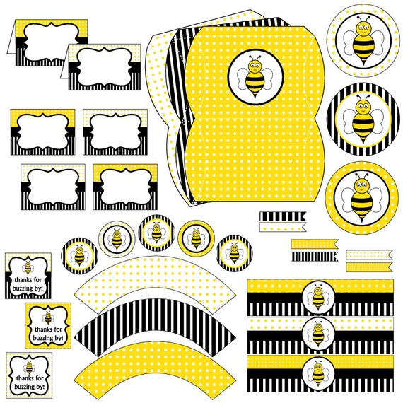 Bee birthday party Bumble Bee Party party printables bee – Bumble Bee Party Invitations