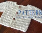 Baby Sweater PATTERN, Baby Boy Crochet Sweater PATTERNS, Crochet Baby Sweater, Sweater Jacket