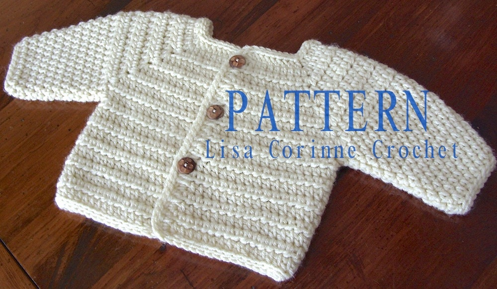 Crochet Baby Boy Sweater Free Patterns : Baby Sweater PATTERN Baby Boy Crochet Sweater PATTERNS