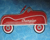 Toy Car Appliqued Vehicle Themed Lightweight Cotton Blanket