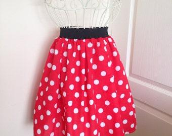 1950's style polka dot skirt