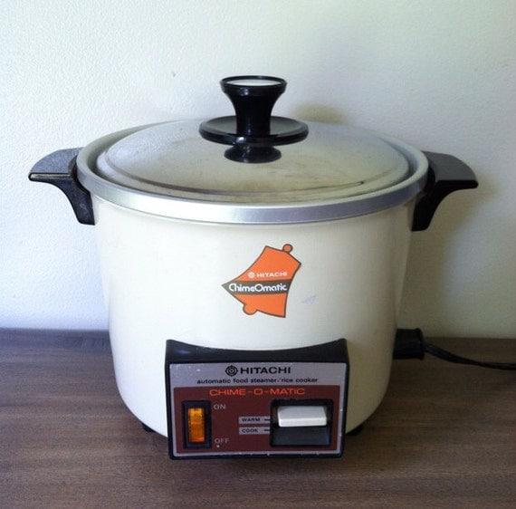 Automatic Rice Cooker ~ Vintage hitachi chimeomatic automatic food steamer rice cooker