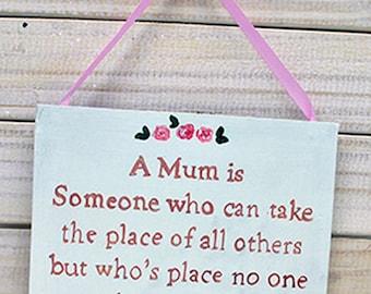 Shabby Chic Sign - Mum