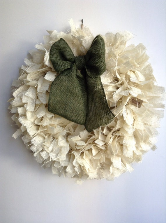 Christmas Wreath, Burlap Christmas Wreath