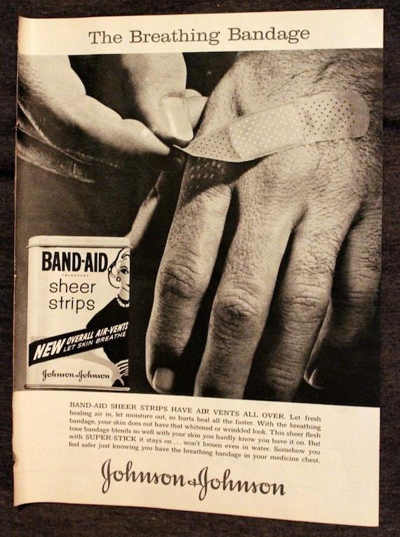 1961 Band Aid Ad Bandage Retro Vintage By 3rdstvintagepaper