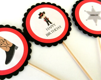 6 Cowboy Centerpiece Sticks, Cowboy Theme, Cowboy Birthday, First Birthday, Western Party, Table Decor, Baby Shower, Cowboy Party