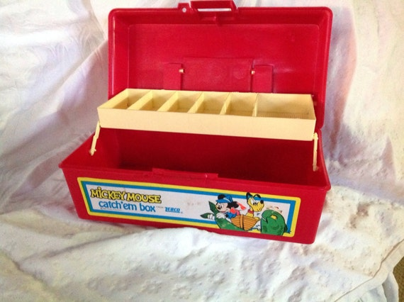 Mickey Mouse Tackle Box By Zebco Kids Tackle Box Red Tackle