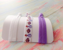 SOFIA THE FIRST, Sophia the First,  Elastic Hair Ties Disney Hair Tie Sofia Party Favor Ponytail Holder Purple Hair Tie