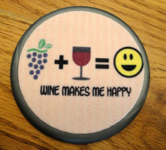 Really Cute Wine Coaster Set Drink Coasters Contains An
