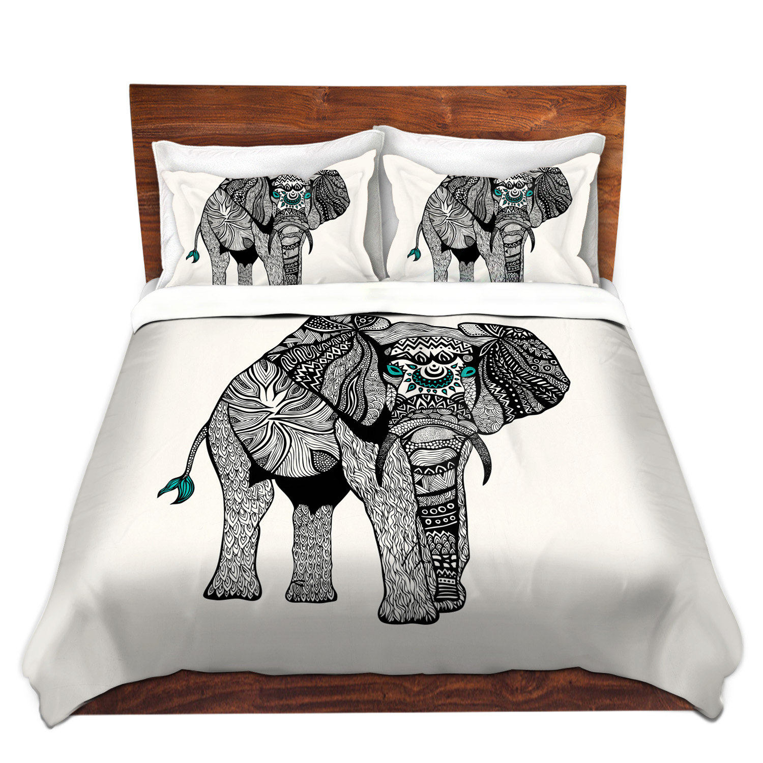 One Tribal Elephant Bed Duvet Cover For Twin Queen and King