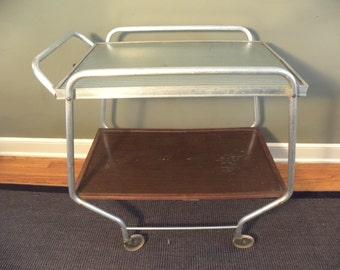 Bar Cart / Tea Cart / Vintage / Mid Century Rolling Bar / Serving Table / Kitchen