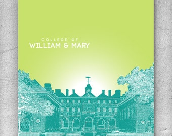 College of William & Mary Williamsburg Virginia / Home Wall Art / Office Decor Wall Art / Any City or Landmark