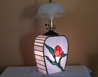 Stained Glass Lamp - Up and Down