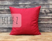 red pillow cover red throw pillow cover decorative pillow outdoor pillow case home decor cotton cushion cover red accent pillow ANY SIZES