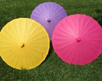 Plain Paper Parasols for Wedding Pictures, Wedding Ceremony, Wedding Decor, Beach Wedding, Paper Umbrella, Flower Girl Parasol, Turquoise