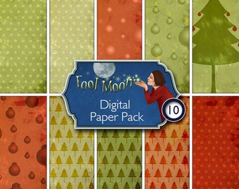Digital Paper, Xmas paper, digital sheet, digital collage sheet, printable scrapbooking, ATC, journaling, card making - Chrismas pack 01