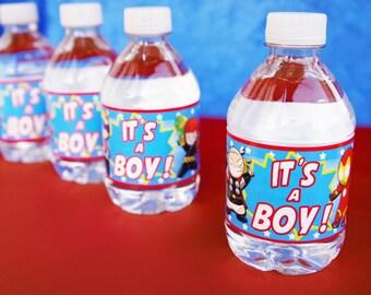 Baby Avenger Water Bottle Labels