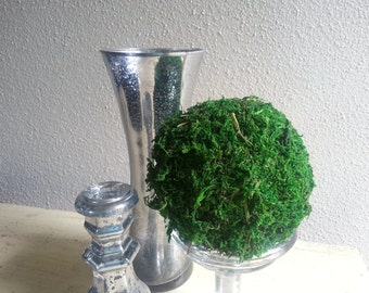 Decorative Moss Ball - 4 inch Green Moss Ball - Moss Topiary - Vase Filler - Natural Home Decor