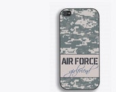 AirForce Girlfriend Phone Case - for iPhone 4/4s/5/5s/5c/6/6s/6+ Galaxy S3/S4/S5/S6 and iPod 4/5/6 - Military Girlfriend Gift - Air Force GF