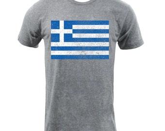 Flag of Greece - Athletic Grey