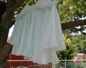Powder Blue Bed Jacket/Peignoir from Vanity Fair