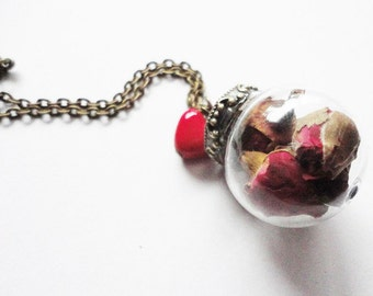 Necklace real Flower