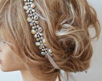 Bridal Rhinestone Headband, Wedding Headband, Bridal Headpiece, Wedding Head Piece, Bridal Hair Accessory, Vintage Style, wedding accessory
